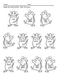 Cute Freebie Mouse Paint Color Words Printable Coloring Pages