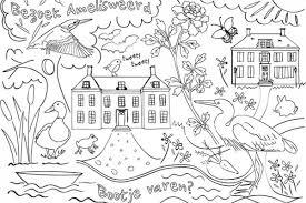 Kleurplaat Hollands Landschap