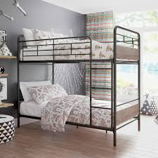better homes gardens anniston twin over twin bunk bed metal frame and rustic