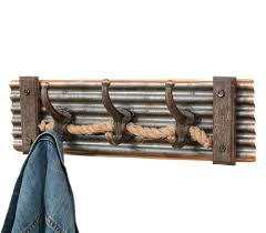 Western Coat Rack Rustic Rope Coat Rack 54