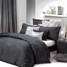 black silver quilt cover set