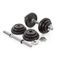york legacy dumbbell set. york fitness 20 kg black cast iron dumbbell spinlock set legacy