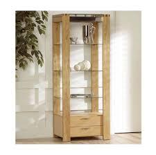 fascinating solid oak wood shelving unit with glass shelf