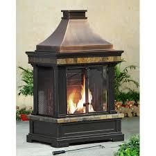 brownston steel wood burning outdoor fireplace