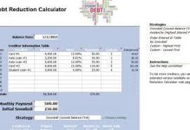 Debt Reduction Template Template Haven