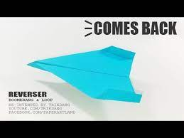 boomerang paper plane tutorial how to