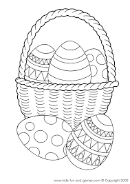 Small Picture Easter Basket Coloring Page