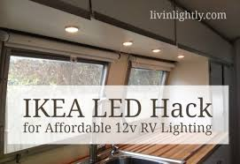 ikea led hack for affordable 12v rv lighting how to hardwire ikea led s into