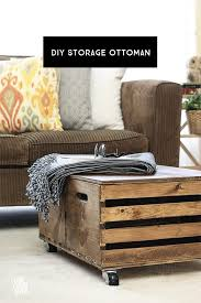 easy and functional diy storage ottoman made from wooden crates livelaughrowe com