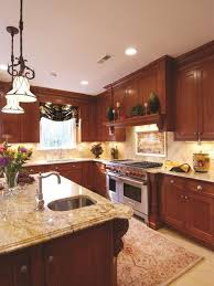 cherry cabinet with granite home design ideas pictures cherry kitchen cabinets with black granite countertops