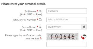 Registering A For Singpass Account