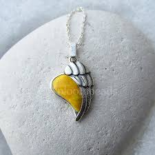 small angel wing heart pendant angel wing heart small self bail 14