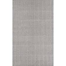 herringbone cotton grey 3 ft x 5 ft area rug