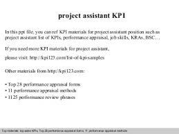 project assistant   linkedinproject assistant kpi
