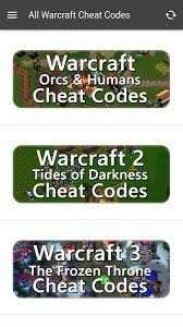 all cheats for warcraft android apps on google play