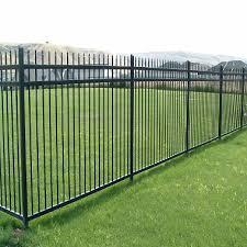 fence. Aspen Style 3-Rail Steel Fence Kit, Powder-Coated Black (6.5\u0027