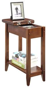 Convenience Concepts - American Heritage Flip-Top End Table, Espresso -  Side Tables and