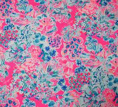 Lilly Pulitzer Fabric Lilly Pulitzer Fabric Lovers Coral From Preppyfabrics On Etsy Studio