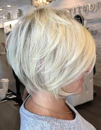 White Blonde Pixie Bob Over 50