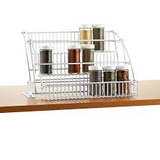 Rubbermaid Coated Wire In Cabinet Spice Rack Enchanting Rubbermaid PullDown Spice Rack Clever Design And Construction