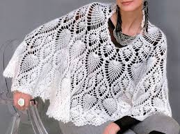 Capelet Pattern Fascinating Crochet Cape PATTERN Crochet Capelet Pattern With Pineapple Motif