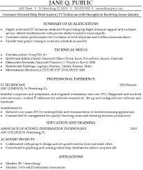 Sample Help Desk Support Resume Resume Computer Technician Emelcotest Com