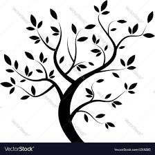 tree vector white. black tree vector image white u