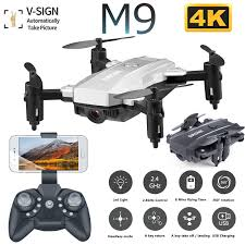 <b>M9 Mini Foldable</b> Drone with 4K HD Camera WiFi FPV Altitude ...
