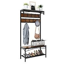 Coat Rack With Storage Shelves Beauteous Amazon 32in32 Entryway Coat Rack Rackaphile Vintage Metal And
