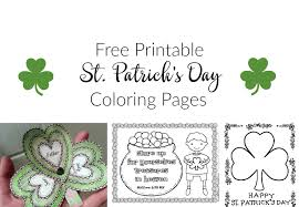 The shamrock template can also be used as a coloring page. St Patrick S Day Coloring Pages And Free Printables Artful Homemaking