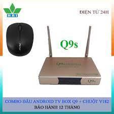 Combo đầu thu Androi TV box Q9s + chuột V182, giá chỉ 550,000đ! Mua ngay  kẻo hết!