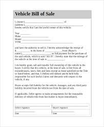 vehicle bill of sale as is sample vehicle bill of sale 7 documents in pdf word