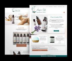 Essential Oil Website Design Website Design E Commerce