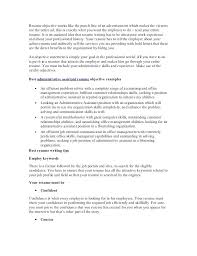 Objective Ideas For A Resume Job Objective Samples For Resume