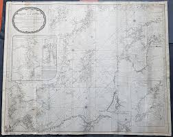 1794 Laurie Whittle Large Very Rare Blueback Map Sea Chart Of The Baltic Sea