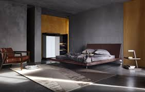 Masculine Bedroom Furniture Minimalist Masculine Bedroom With Grey Walls And Modern Furniture