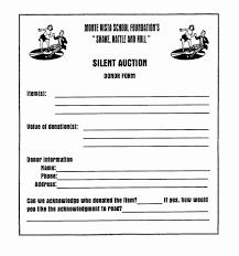 Sample Donation Form 011 Template Ideas Sample Silent Auction Donation Form
