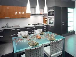 furniture for kitchens. Glass Top Table And Four Chairs, Contemporary Kitchen Design With Wood  Cabinets Modern Lighting Fixtures Furniture For Kitchens