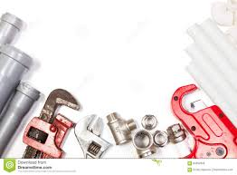 Designers Plumbing And Hardware Plumbing Tools Supplies Background Stock Photo Image Of