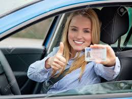Photo Licence Her Shows 13343001 Attractive Driving Woman Free Picture Young Royalty Image Image Stock And