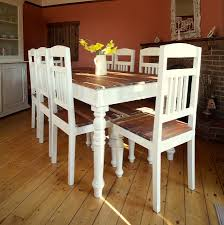 Distressed Kitchen Table White Distressed Dining Table Dining Table Ideas