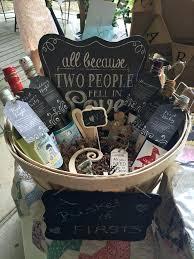 bridal shower gift basket unique wedding gift basket ideas image