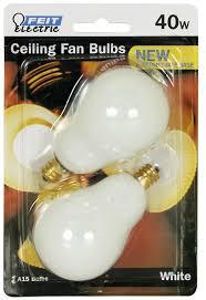 Feit Ceiling Fan Light Bulbs Feit Electric Bp40a15c W Cf 40 Watt White Ceiling Fan Light Bulb 2 Count