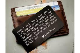 14 meaningful gifts for him that will make him secretly cry personalized wallet card to see more