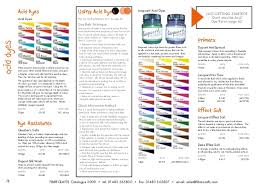 Procion Dye Color Mixing Chart Fibrecrafts Colour Crafts