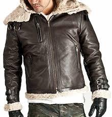 Designer Fur Jacket Men Men S Fur Lined Belted Collar Style Leather Jacket