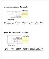 Amortized Schedule Excel Printable Amortization Schedule Excel Download Them Or Print