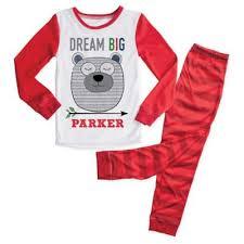"2-Piece ""<b>Dream Big</b>"" Bear <b>Pajama</b> Set in Red | buybuy BABY"