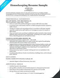 Executive Housekeeper Resume Unique Sample Resume Of Executive Housekeeper Fruityidea Resume