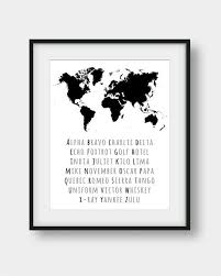The nato phonetic alphabet or more formally the international radiotelephony spelling alphabet, is the most commonly used spelling dictionary in the aviation industry. 60 Off Phonetic Alphabet World Map Print Nato Phonetic Etsy Alphabet Print Alphabet Poster Phonetic Alphabet